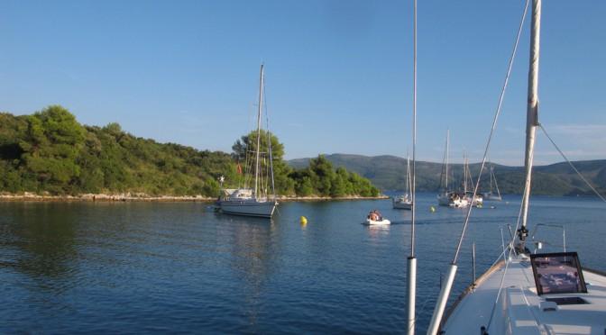 Anchoring off Hvar