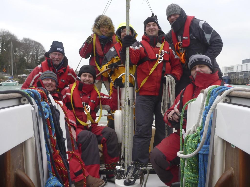 Crew photo on arrival