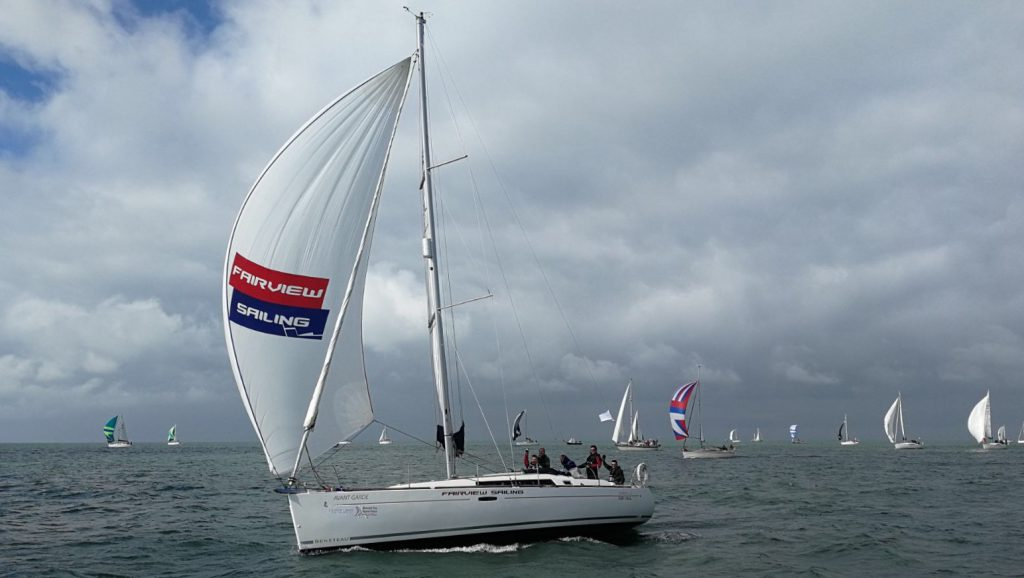 'avant garde' during the round the island race