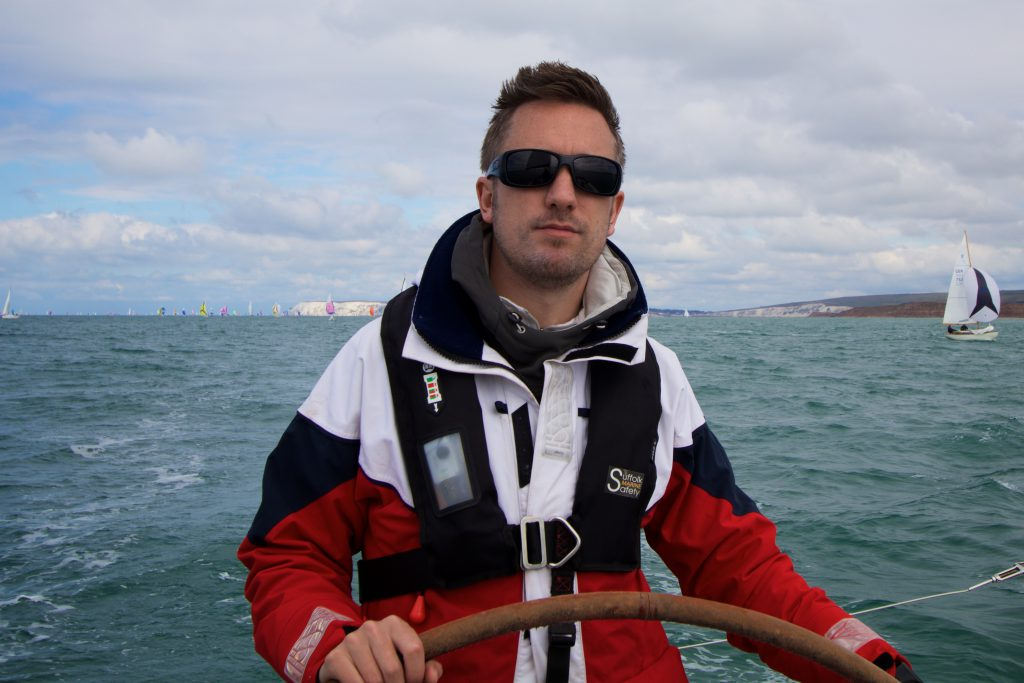 andy helming during the round the island race