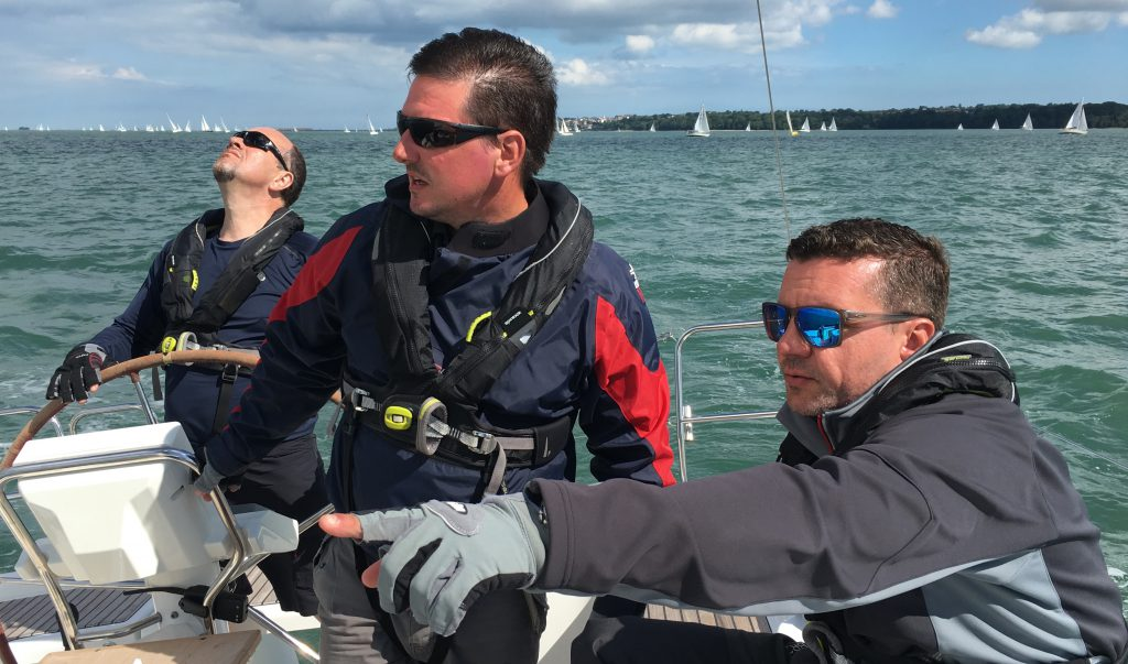 looking for the competition during the round the island race