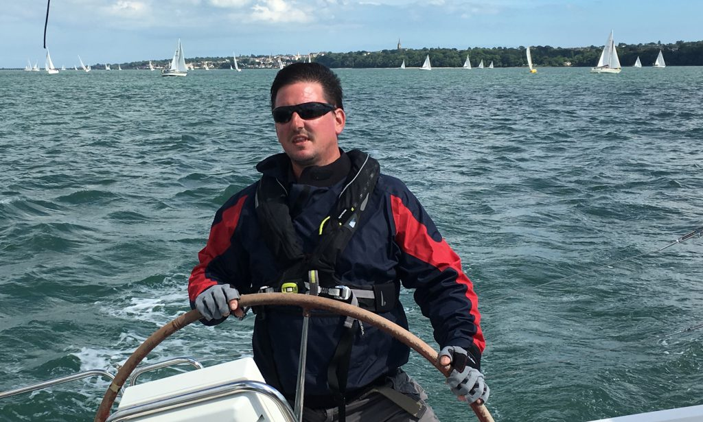 peter helming during the round the island race