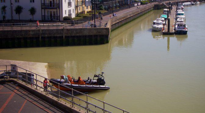 Littlehampton slipway tidal rise and fall